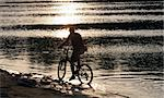Bike silhouette in the river Stock Photo - Royalty-Free, Artist: Fesus                         , Code: 400-05011420
