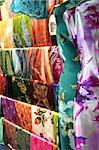 Traditional asian fabrics and clothes for sale in a shop in Malaysia Stock Photo - Royalty-Free, Artist: kgtoh                         , Code: 400-05012163