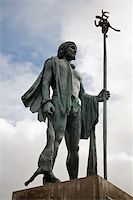 Statue of a Canarian guanche, aborigen of the Canary islands Stock Photo - Royalty-Freenull, Code: 400-05018578