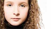 Studio portrait of a young girl Stock Photo - Royalty-Freenull, Code: 400-05022070