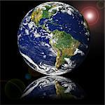 NASA public-use image Globe reflected on glass Stock Photo - Royalty-Free, Artist: cmcderm1                      , Code: 400-05022159