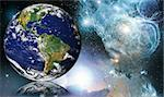 NASA public-use image Globe reflected into Space Stock Photo - Royalty-Free, Artist: cmcderm1                      , Code: 400-05022166