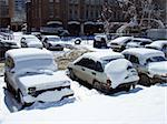 Cars covered by snow after the blizzard Stock Photo - Royalty-Free, Artist: NiDerLander                   , Code: 400-05023659
