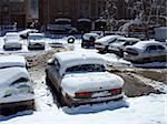 Cars covered by snow after the blizzard Stock Photo - Royalty-Free, Artist: NiDerLander                   , Code: 400-05023660