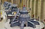 Seven electro magnetic power generators at Hoover Dam Stock Photo - Royalty-Free, Artist: oralleff                      , Code: 400-05025615