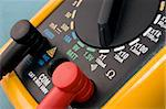 yellow multimeter close up. electronics instruments and tools. Stock Photo - Royalty-Free, Artist: ldelfoto                      , Code: 400-05033366