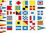 Since ancient times, sailors try to communicate with flags between ships  Stock Photo - Royalty-Free, Artist: key909                        , Code: 400-05033668