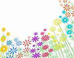 Editable vector illustration of a flowery background Stock Photo - Royalty-Free, Artist: tawng                         , Code: 400-05036330