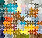 jigsaw puzzle pattern Stock Photo - Royalty-Free, Artist: dip                           , Code: 400-05039092