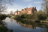 flooded homes - Houses next to canal or river. Stock Photo - Royalty-Freenull, Code: 400-05039296
