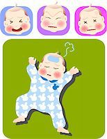 vector illustration for a set of expression of sick baby Stock Photo - Royalty-Freenull, Code: 400-05039813