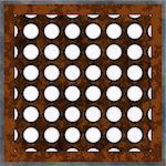Computer generated illustration grungy metal window grate Stock Photo - Royalty-Free, Artist: icholakov                     , Code: 400-05040266