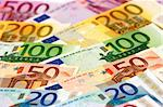 Arranged euro banknotes Stock Photo - Royalty-Free, Artist: pisicax                       , Code: 400-05041460