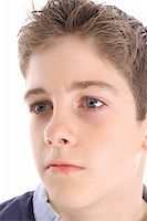 young boy profile shot Stock Photo - Royalty-Freenull, Code: 400-05042919