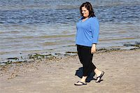 Beautiful plus sized model taking a walk by the sea. Stock Photo - Royalty-Freenull, Code: 400-05043080