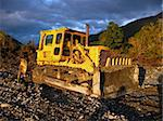 Yellow bulldozer on a sunny day Stock Photo - Royalty-Free, Artist: YUVIS                         , Code: 400-05043677