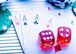 Play in the casino Stock Photo - Royalty-Free, Artist: JanPietruszka                 , Code: 400-05043713