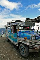 philippine terrace farming - jeepney from banaue to batad parked on high pass northern luzon the philippines Stock Photo - Royalty-Freenull, Code: 400-05044037