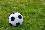 Soccer ball on the grass Stock Photo - Royalty-Free, Artist: Gelpi                         , Code: 400-05044273