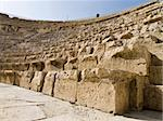 Detail of seats with alphabet in Roman theatre in Jerash, Jordan Stock Photo - Royalty-Free, Artist: dbajurin                      , Code: 400-05044525