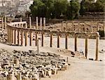 The Forum in Jerash, Jordan. Stock Photo - Royalty-Free, Artist: dbajurin                      , Code: 400-05044526