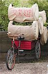 trolley bicycle for transporting flowers on exhibition in Holland Stock Photo - Royalty-Free, Artist: twieja                        , Code: 400-05049972