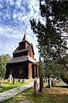 A stavechurch - stavkirke - in Norway located at Torpo built in the 13th century. Stock Photo - Royalty-Free, Artist: Leaf                          , Code: 400-05053352