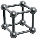 3d abstract black box molecular structure Stock Photo - Royalty-Free, Artist: sgame                         , Code: 400-05055919