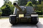 Old soviet tank in park, Krasnodar, south Russia Stock Photo - Royalty-Free, Artist: shanin                        , Code: 400-05056840