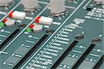 mixing soundboard re-verb settings close-up Stock Photo - Royalty-Free, Artist: nelsonart                     , Code: 400-05057185