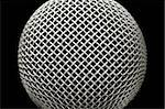 abstract close-up of a studio microphone on black Stock Photo - Royalty-Free, Artist: nelsonart                     , Code: 400-05057225