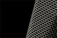 microphone macro abstract on black Stock Photo - Royalty-Freenull, Code: 400-05057228