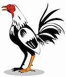 vector art of a rooster Stock Photo - Royalty-Free, Artist: patrimonio                    , Code: 400-05059220