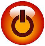 red power button or web icon Stock Photo - Royalty-Free, Artist: willeecole                    , Code: 400-05059415