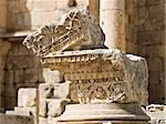 Roman Corinthian column details in the main streed - cardo, in Jerash, Jordan Stock Photo - Royalty-Free, Artist: dbajurin                      , Code: 400-05062989