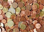A background Photography of the Euro Cent Stock Photo - Royalty-Free, Artist: magann                        , Code: 400-05067301