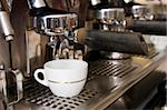 Close-up of an espresso machine making acup of coffee Stock Photo - Royalty-Free, Artist: Multiart                      , Code: 400-05067745