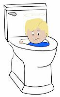 young child being flushed down the toilet - bad behaviour Stock Photo - Royalty-Freenull, Code: 400-05068359