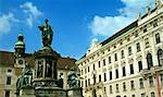 Monument in front of Imperial Palace, Vienna (austrian capital) Stock Photo - Royalty-Free, Artist: dundanim                      , Code: 400-05068636