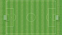 aerial view of a soccer field -3d rendering Stock Photo - Royalty-Freenull, Code: 400-05069233