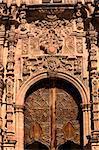 Ornate Wooden Door Valencia Church, Templo de San Cayetano, Guanajuato, Mexico