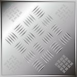 Chrome silver tile simulating industrial floor pattern Stock Photo - Royalty-Free, Artist: pnog                          , Code: 400-05069830
