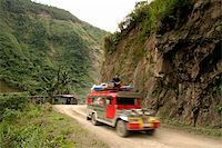 philippine terrace farming - jeepney travellin on mountain road northern luzon philippines Stock Photo - Royalty-Freenull, Code: 400-05071778