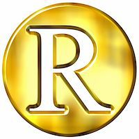 fancy letters - 3d golden letter R isolated in white Stock Photo - Royalty-Freenull, Code: 400-05072896