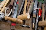 Different goldsmith tools on workplace desktop Stock Photo - Royalty-Free, Artist: ambrits                       , Code: 400-05095597