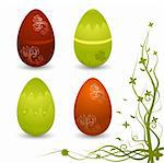 Set of vector Easter eggs Stock Photo - Royalty-Free, Artist: Elisanth                      , Code: 400-05104315