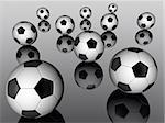 3d scene of the soccer ball Stock Photo - Royalty-Free, Artist: RodolfoClix                   , Code: 400-05108468