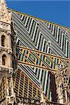 Colorful tiled roof of Saint Stephen's Cathedral, Vienna, Austria Stock Photo - Royalty-Free, Artist: benedictus                    , Code: 400-05112175