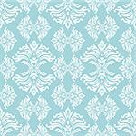 light blue floral background with flowing design that repeats Stock Photo - Royalty-Free, Artist: Nicemonkey                    , Code: 400-05113619