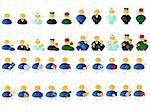 Set of differend multicolored people icons Stock Photo - Royalty-Free, Artist: SNR                           , Code: 400-05119365